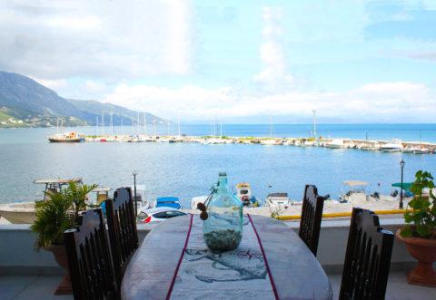 Marina bay view in Corfu Ipsos